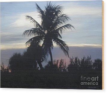 Island Sunset Wood Print by Megan Dirsa-DuBois