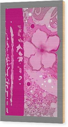 Islander Plumeria Wood Print by Wendy Wiese
