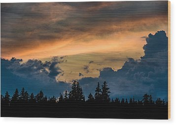 Isle Au Haut Sunset Wood Print