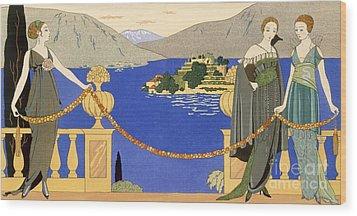 Isola Bella Wood Print by Georges Barbier