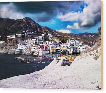 Isola Di Ischia Sant'angelo - The Island Of Ischia Sant'angelo Wood Print by Ze  Di