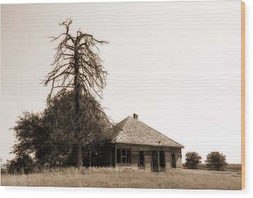 Wood Print featuring the photograph Isolated by Shirley Heier