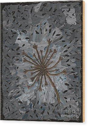 Isolation Vacuus Vos Wood Print by Vicki Maheu