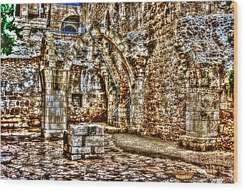 Wood Print featuring the photograph Israels Ruins by Doc Braham