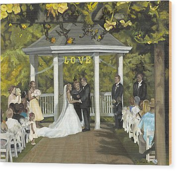 Issaquah Wedding  Wood Print