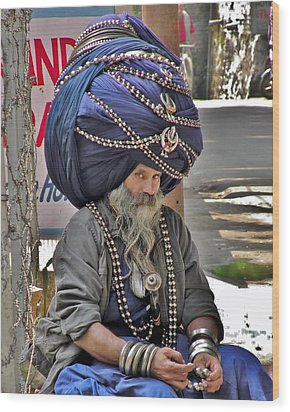 Its All In The Head - Rishikesh India Wood Print