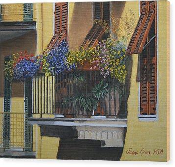 Italian Balcony Wood Print