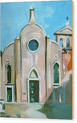 Italian Church Wood Print by Filip Mihail