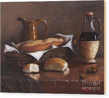 Italian Cuisine Wood Print