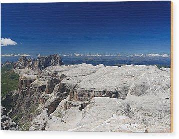 Wood Print featuring the photograph Italian Dolomites - Sella Group by Antonio Scarpi
