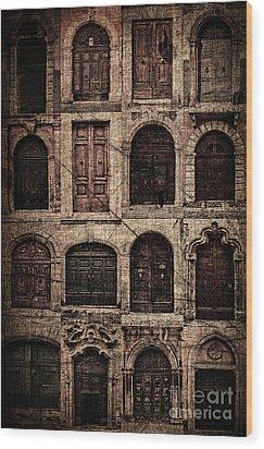 Italian Doors. Wood Print by Juan Nel