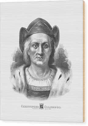 Italian Explorer Christopher Columbus Wood Print by War Is Hell Store