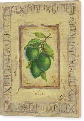Italian Fruit Limes Wood Print by Marilyn Dunlap