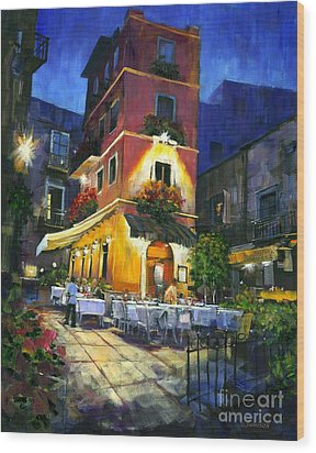 Italian Nights Wood Print by Michael Swanson