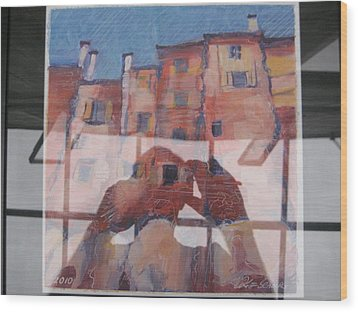 Italian Painting Reflection Wood Print