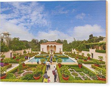 Italian Renaissance Garden Hamilton Gardens New Zealand Wood Print by Colin and Linda McKie