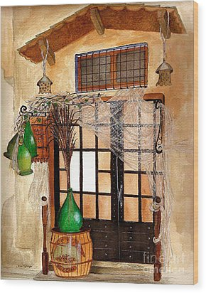 Wood Print featuring the painting Italian Restaurant  by Nan Wright