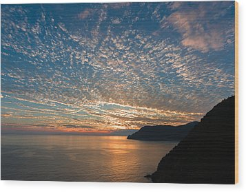 Wood Print featuring the photograph Italian Riviera Sunset by Carl Amoth