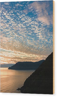 Wood Print featuring the photograph Italian Riviera Sunset - II by Carl Amoth