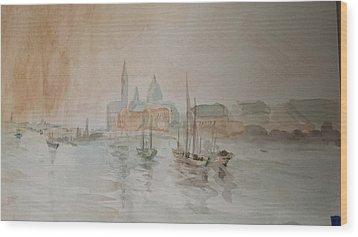 Italian Seaport Wood Print