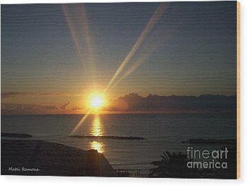 Wood Print featuring the photograph Italian Sunrise by Ramona Matei