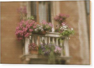 Italian Windowbox 1 Wood Print