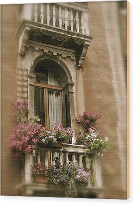 Italian Windowbox 2 Wood Print