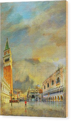 Italy 03 Wood Print by Catf