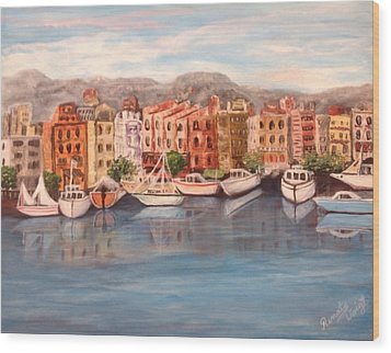 Wood Print featuring the painting Italy by Renate Voigt
