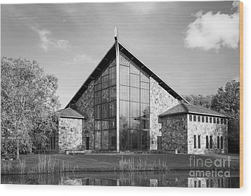 Ithaca College Muller Chapel Wood Print by University Icons