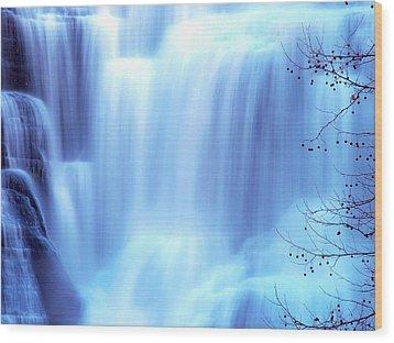 Ithaca Water Falls New York  Wood Print by Paul Ge