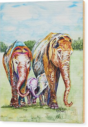 It's A Family Affair Wood Print by Maria Barry