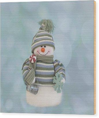 It's A Holly Jolly Christmas Wood Print by Kim Hojnacki