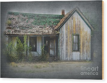 It's  A Long Story Wood Print by Sandra Bronstein