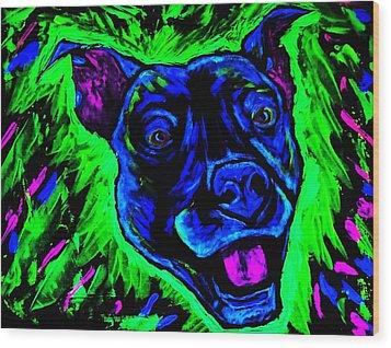 It's A Pitty Black Light Wood Print