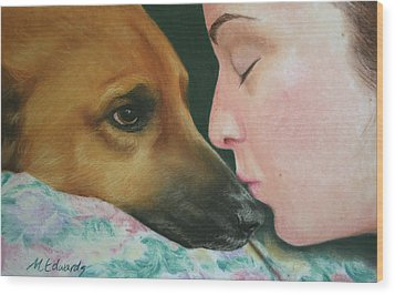 It's Alright Wood Print by Marna Edwards Flavell