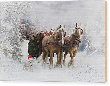 A Christmas Wish Wood Print