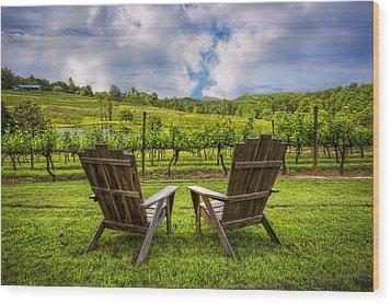 It's Happy Hour Wood Print by Debra and Dave Vanderlaan