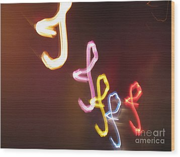 Wood Print featuring the photograph It's I... I... And More Of I. Dancing Lights Series by Ausra Huntington nee Paulauskaite
