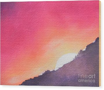 Wood Print featuring the painting It's Not About The Climb  Rather What Awaits You On The Other Side by Chrisann Ellis