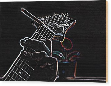 Wood Print featuring the photograph It's Only Dangerous On The Solos by Bartz Johnson