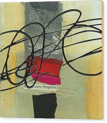 Its Own Frequency Wood Print by Jane Davies