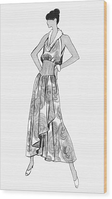 It's Sarong It's Right Wood Print by Sarah Parks