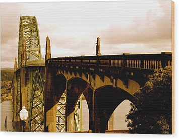 It's Water Under The Bridge 2  Wood Print by Sheldon Blackwell