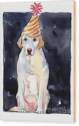 It's Your Birthday Wood Print by Molly Poole