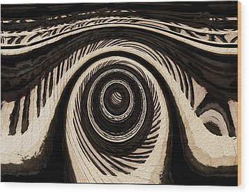 Ivory Wood Print by Jack Zulli