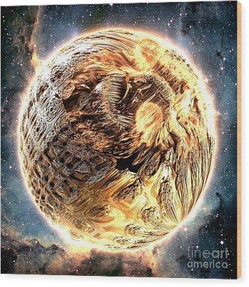 Ivory Planet Wood Print by Bernard MICHEL