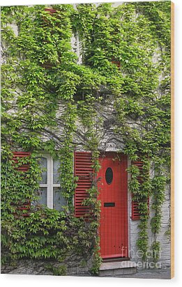 Ivy Cottage Wood Print by Ann Horn