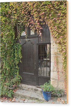 Wood Print featuring the photograph Ivy Covered Doorway by Paul Topp