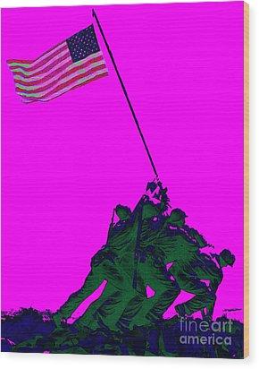 Iwo Jima 20130210 Wood Print by Wingsdomain Art and Photography